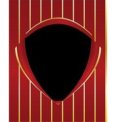 Red gold black shield frame background vector image