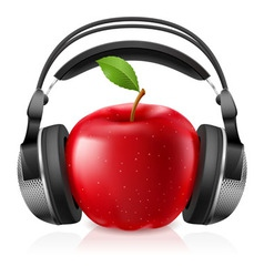 Headset on apple vector