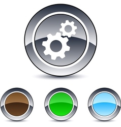 Tools round button vector