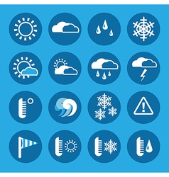 Weather and forecast icon set vector