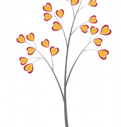 Heart tree vector