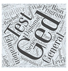 A ged or general education diploma word cloud vector