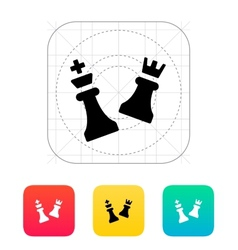 Chess attack icon vector image vector image