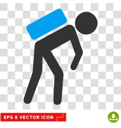 Child courier eps icon vector
