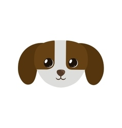 Cute small puppy dog icon pet vector
