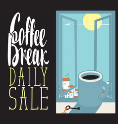 Daily coffee cup vector