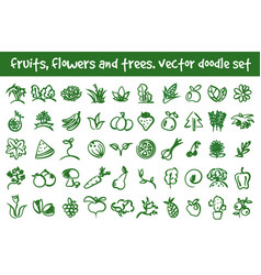 Doodle icons set vector