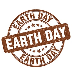 earth day brown grunge round vintage rubber stamp vector image vector image