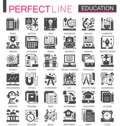 education classic black mini concept symbols vector image vector image