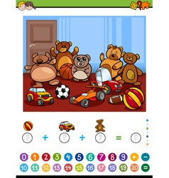 educational maths activity vector image vector image