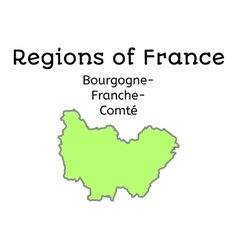 France administrative map of boufrncomte vector