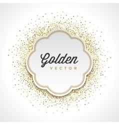 Gold Glitter Sparkles Bright Confetti White Paper vector image