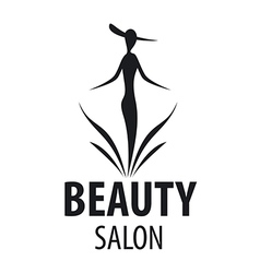 Logo elegant woman for a salon beauty vector