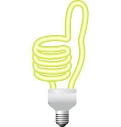 Ok hand sign energy saving bulb vector