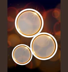 Round frames on brown dim light background vector