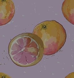 seamless pattern grapefruit vector image