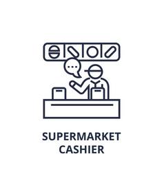 supermarket cashier line icon outline sign vector image