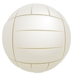White ball for volleyball vector