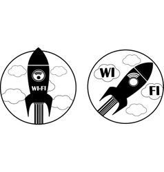 Wireless and wifi icon vector image