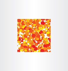 Red yellow circles background square vector