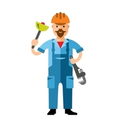 Plumber flat style colorful cartoon vector