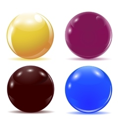 Set of multicolored glossy balls vector