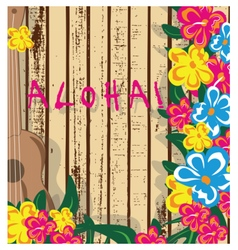 Summer hawaii card vector