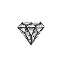 Hand drawn diamond vector