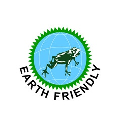 Earth Friendly Sign vector image