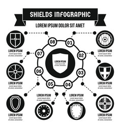 Shields infographic concept simple style vector