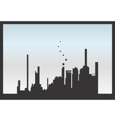 Silhouette factory isolated vector