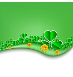 St Patricks Day background Eps 10 vector image