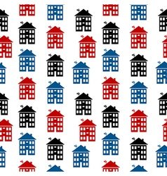 Apartment house icon seamless pattern vector