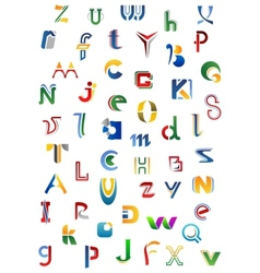 Colorful alphabet letters and fonts vector image