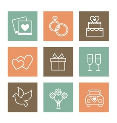 set of valentines day and vector image