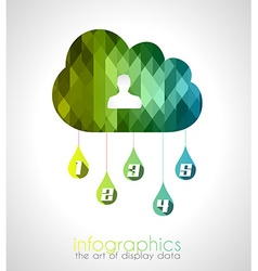 Cloud computing infographic with 5 numbers for vector