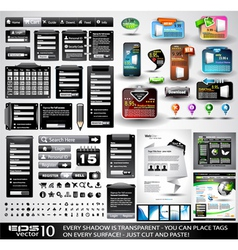 Website tabs vector