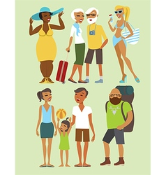 vacation people character set vector image