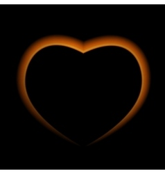 Naturalistic fire heart on dark background vector