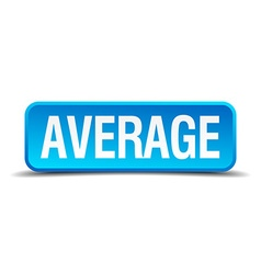Average blue 3d realistic square isolated button vector