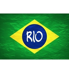 Rio design brazil flag an old grunge flag of vector