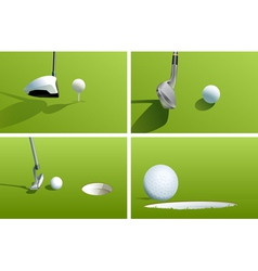 Golf series vector image