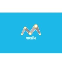 Abstract colored logo Play logo Media vector image vector image