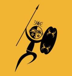 African warrior attack vector image