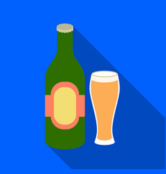 beer icon in flat style isolated on white vector image vector image