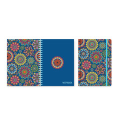 cover design for notebooks or scrapbooks with vector image
