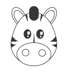 Cute zebra cartoon icon vector