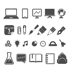 Education silhouettes collection isolated on white vector image vector image