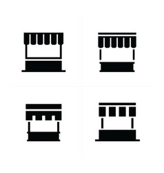 fast food trolley icons vector image vector image