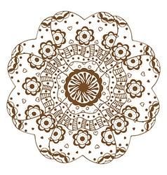 floral ornament Mandala vector image